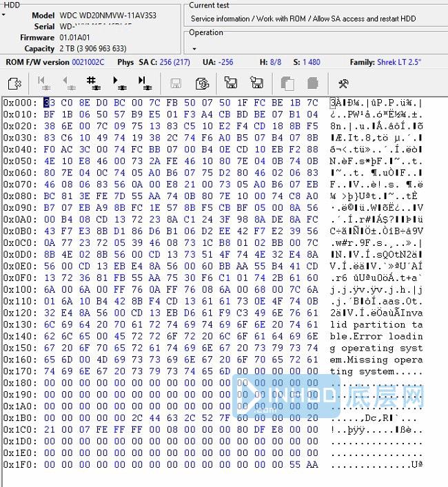 西数硬盘.使用ROM终端内核模式下解决故障恢复数据